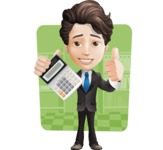 Little Boy Businessman Cartoon Vector Character AKA David - Shape6