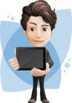 Little Boy Businessman Cartoon Vector Character AKA David - Shape8