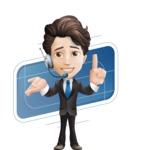 Little Boy Businessman Cartoon Vector Character AKA David - Shape10