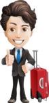 Little Boy Businessman Cartoon Vector Character AKA David - Travel1