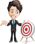 Little Boy Businessman Cartoon Vector Character AKA David - Target