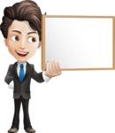 Little Boy Businessman Cartoon Vector Character AKA David - Presentation1