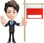 Little Boy Businessman Cartoon Vector Character AKA David - Presentation2