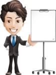 Little Boy Businessman Cartoon Vector Character AKA David - Presentation3