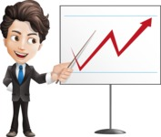 Little Boy Businessman Cartoon Vector Character AKA David - Presentation4