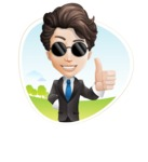 Little Boy Businessman Cartoon Vector Character AKA David - Shape3