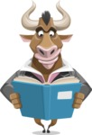 Bull Businessman Cartoon Vector Character AKA Barry the Bull - Book 1