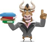 Bull Businessman Cartoon Vector Character AKA Barry the Bull - Book 2