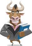 Bull Businessman Cartoon Vector Character AKA Barry the Bull - Book 3
