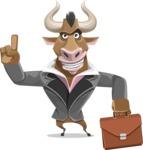 Bull Businessman Cartoon Vector Character AKA Barry the Bull - Briefcase 2