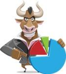 Bull Businessman Cartoon Vector Character AKA Barry the Bull - Chart