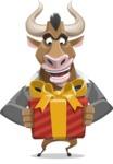 Bull Businessman Cartoon Vector Character AKA Barry the Bull - Gift