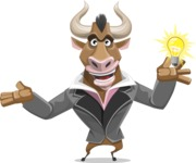 Bull Businessman Cartoon Vector Character AKA Barry the Bull - Idea 1