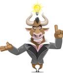 Bull Businessman Cartoon Vector Character AKA Barry the Bull - Idea 2