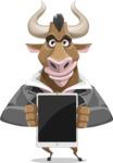Bull Businessman Cartoon Vector Character AKA Barry the Bull - iPad 1