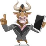 Bull Businessman Cartoon Vector Character AKA Barry the Bull - iPad 3