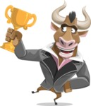 Bull Businessman Cartoon Vector Character AKA Barry the Bull - Meat