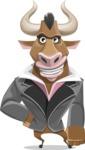 Bull Businessman Cartoon Vector Character AKA Barry the Bull - Normal