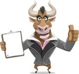 Bull Businessman Cartoon Vector Character AKA Barry the Bull - Notepad 1