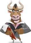 Bull Businessman Cartoon Vector Character AKA Barry the Bull - Notepad 3