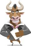 Bull Businessman Cartoon Vector Character AKA Barry the Bull - Notepad 4