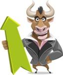 Bull Businessman Cartoon Vector Character AKA Barry the Bull - Pointer 1