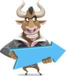 Bull Businessman Cartoon Vector Character AKA Barry the Bull - Pointer 2