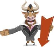 Bull Businessman Cartoon Vector Character AKA Barry the Bull - Pointer 3