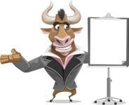 Bull Businessman Cartoon Vector Character AKA Barry the Bull - Presentation 1