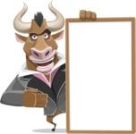 Bull Businessman Cartoon Vector Character AKA Barry the Bull - Presentation 4