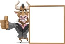 Bull Businessman Cartoon Vector Character AKA Barry the Bull - Presentation 5