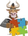 Bull Businessman Cartoon Vector Character AKA Barry the Bull - Puzzle