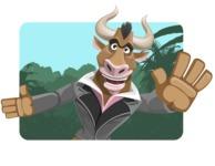 Bull Businessman Cartoon Vector Character AKA Barry the Bull - Shape 1