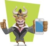 Bull Businessman Cartoon Vector Character AKA Barry the Bull - Shape 12
