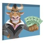 Bull Businessman Cartoon Vector Character AKA Barry the Bull - Shape 3