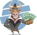 Bull Businessman Cartoon Vector Character AKA Barry the Bull - Shape 6