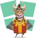 Bull Businessman Cartoon Vector Character AKA Barry the Bull - Shape 8