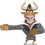 Bull Businessman Cartoon Vector Character AKA Barry the Bull - Show 2