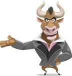 Bull Businessman Cartoon Vector Character AKA Barry the Bull - Showcase 2