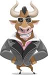 Bull Businessman Cartoon Vector Character AKA Barry the Bull - Sunglasses