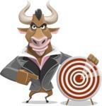 Bull Businessman Cartoon Vector Character AKA Barry the Bull - Target