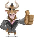 Bull Businessman Cartoon Vector Character AKA Barry the Bull - Thumbs Up