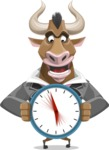 Bull Businessman Cartoon Vector Character AKA Barry the Bull - Time is Yours