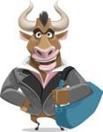Bull Businessman Cartoon Vector Character AKA Barry the Bull - Travel 2