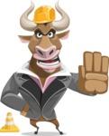Bull Businessman Cartoon Vector Character AKA Barry the Bull - Under Construction 1