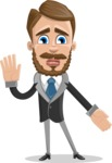 Elegant Businessman Cartoon Vector Character AKA Matt Charismatic - Oops