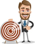 Elegant Businessman Cartoon Vector Character AKA Matt Charismatic - Target