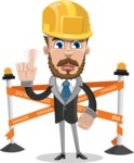 Elegant Businessman Cartoon Vector Character AKA Matt Charismatic - Under Construction 2