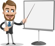 Elegant Businessman Cartoon Vector Character AKA Matt Charismatic - Presentation 2