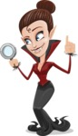 Pretty Female Vampire Cartoon Vector Character - Searching